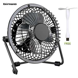 Binwo Quiet Mini Table Desk USB Fan 4 Inch £4.99 prime / £8.98 non prime / 6 inch £7.99 Sold by Binwo Intelligent Electronics and Fulfilled by Amazon