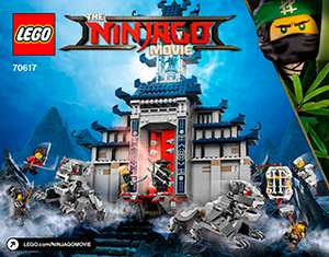 LEGO Ninjago Movie Temple of The Ultimate Ultimate Weapon (70617) plus either a free 4 pack of lego minifigures or a free lego christmas tree £58.14 and free delivery @ toys R us