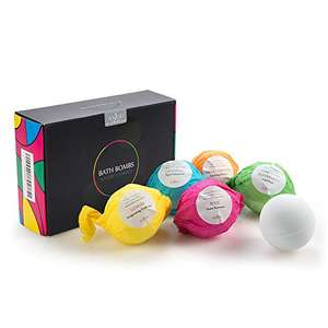 Bath bombs half price Use Promotional Code £4.99 prime / £9.74 non prime Sold by Sunvalleytek-UK and Fulfilled by Amazon