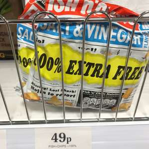 Burton's Fish 'n' Chips - Salt & Vinegar 250g bag 49p @ Home Bargains