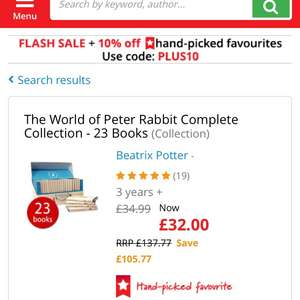Peter Rabbit Book Collection £32.99 @ The book people