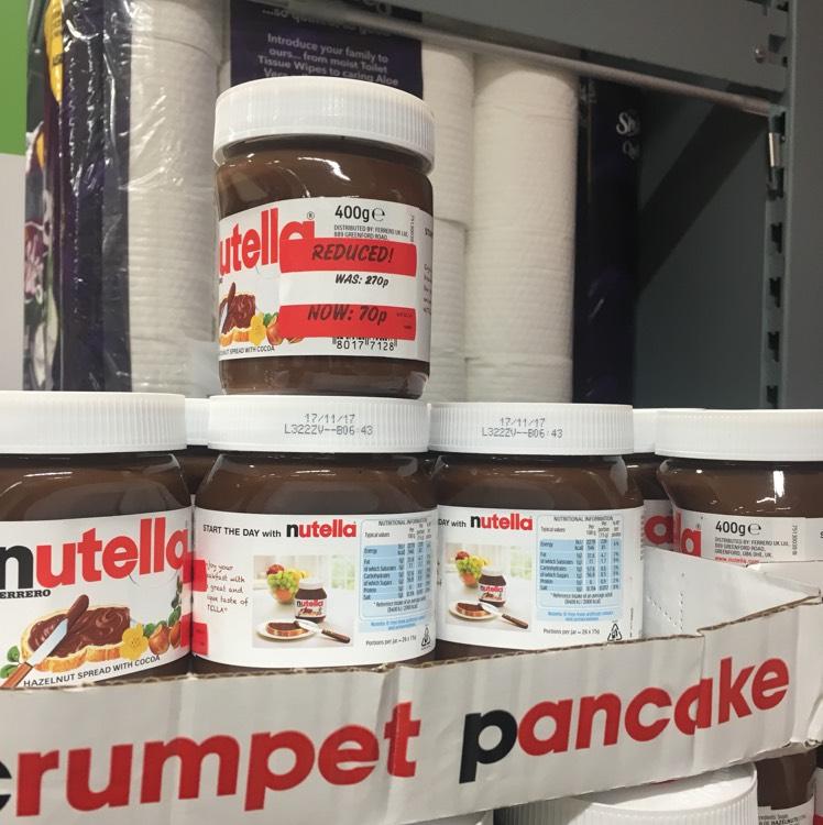 Nutella reduced 70p Asda Grimethorpe