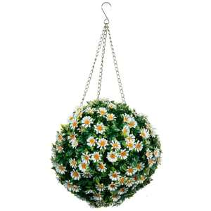 30cm Hanging Daisy Flower Ball £1 @ B&M In store.