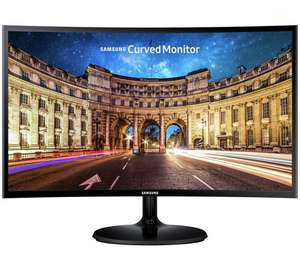 Samsung C24F390 24 Inch LED Curved Monitor - Black £109.99 @ Argos