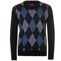 Pierre Cardin V Neck Argyle Jumpers 3 For £12.00 +£4.99 P+P £12.00 To Collect Instore. @ Sports Direct