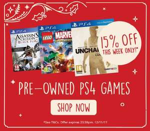 15% off pre owned ps4 games @ Music Magpie