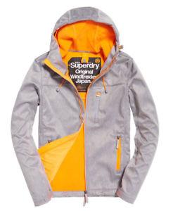 New Mens Superdry Hooded Windtrekker Jacket Light Grey Grit-£39.99 (RRP-79.99) @ Superdry Ebay