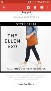 Runway - Fiorelli Ellen £20 delivered. Offer ends Wed 15th Nov