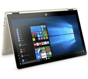 "HP Pavilion x360 15"" Intel Pentium Gold 4GB 1TB Laptop Gold £359.99 with code HP10 @ Argos"