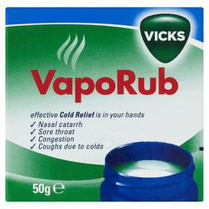 Vicks VapoRub 50g @ Wilko £1.50 Free Collection or £4 Delivery