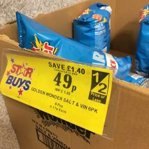 Golden Wonder Salt & Vinegar 6 pack 49p @ Home Bargains