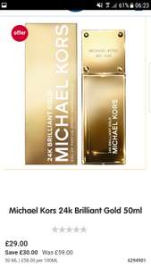 Michael Kors 24k Brilliant Gold 50ml £29 @ boots
