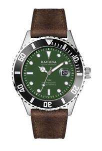 KAHUNA MEN'S GREEN DIAL BROWN STRAP WATCH - KUS0127G £17.99 - ebay / abp200405