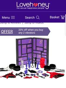 Lovehoney Best Sex of Your Life Couple's Sex Toy Advent Calendar (24 Piece) was £249 now half price £120, enjoy...