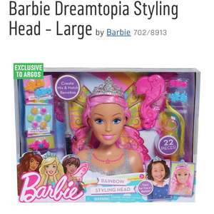 Large barbie styling head - free click and collect argos