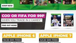 Cod or FIFA for 99p when trade in two games at Game