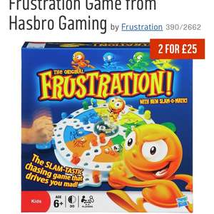 Frustration Game from Hasbro Gaming £7.59 with code at Argos