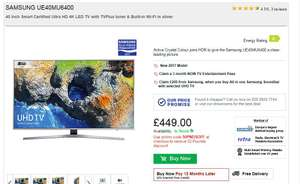 Samsung UE40MU6400 for £399 (with code)  RGB Direct