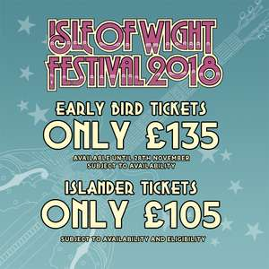 Isle of Wight Tickets on sale - £135 + booking fee