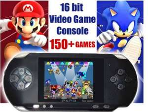 Portable 150+ Retro Games Console (Free Delivery) £10.85 - ebay /  turbo_trade