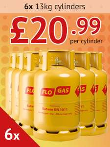 Limited Time Multi-buy Savings On 2, 3, 4 & 6x 13kg Butane Gas Cylinders - From £20.99 Each Delivered (Based On 6 Cylinders With Desposit Returns) @ Gasdeal