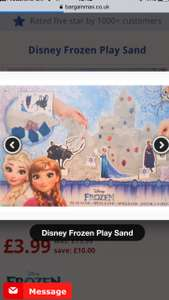 Frozen Play Sand - £3.99 (save £10) Free delivery over £10 - bargainmax.co.uk