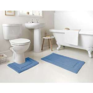 Signature Tufted Bath Mat & Pedestal 2 piece set £1 @ B&M In store