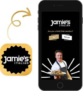 Free bottle of premium red or white wine with £30 spend at Jamie's Italian using gold card app