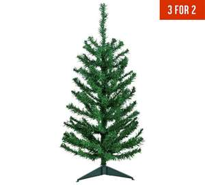 3ft Christmas Tree including stand  - Green - £4.99 (Also on 3 for 2) @ Argos