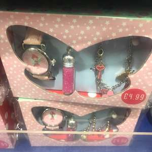 Watch , bracelet and necklace set £4.99 home bargains