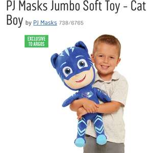 Pj masks large soft toy £15.99 with code at Argos