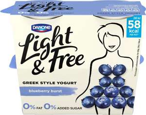 Danone Light & Free Blueberry Yogurt (4 x 115g) was £2.47 now £1.00​ @ Morrisons