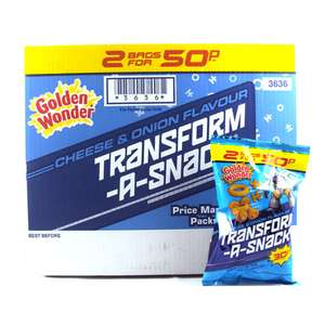 Transform-A-Snacks 30g Bags 15p @ Home Bargains