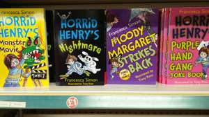 Horrid Henry Books instore at poundland for £1