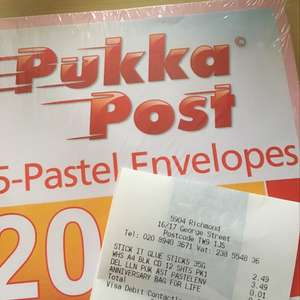 20 Pastel envelopes scanning at 1p - WHSmiths glitch?