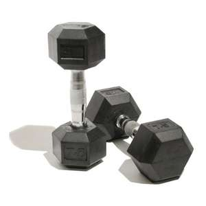 Bodymax Rubber Hex Dumbbells 10kg 'Pack of 2' £17.30 with Prime.