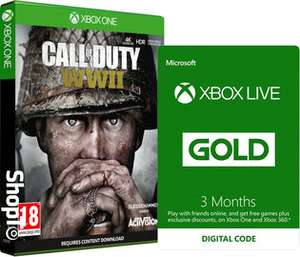 Call of Duty: WWII + Xbox Live Prepaid 6 Month Membership - £58.85 @ ShopTo