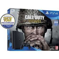 PlayStation 4 500GB Call of Duty WW2 bundle + That's You + NOW TV 2 Months £219.99 @Game