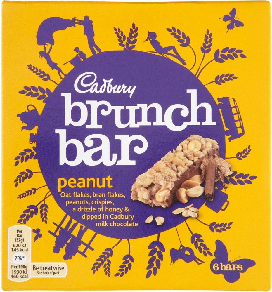 Cadbury Brunch Bar - Peanut (6 x 32g) was £1.00 now 90p (Rollback Deal) @ Asda