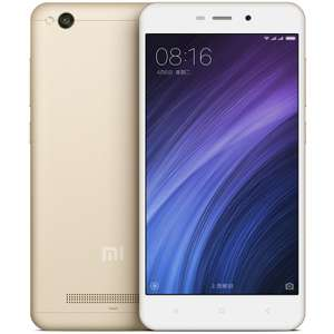 "Xiaomi MI 4A Gold Smart Phone (5"" IPS Screen, 2GB RAM, 16GB Storage, Snapdragon 425) £56.32 Delivered with coupon @ JoyBuy"