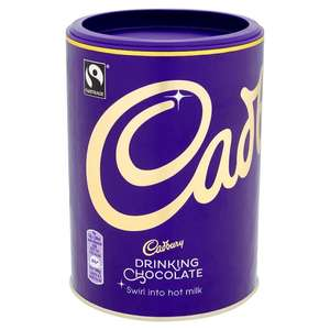 Cadbury Fair Trade Drinking Chocolate 500g   - 75p @ Tesco using Topcashback Snap and save