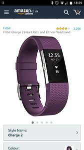 Fitbit charge 2. Amazon £99.99 prime large all colours