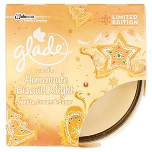 Glade Homemade Biscuit Delight Candle 120 g, Pack of 3 @ Amazon £5 (Prime)