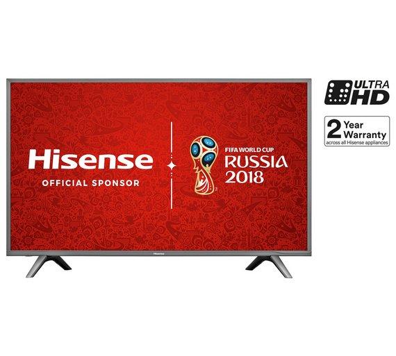 Hisense H43N5700 43 Inch 4K TV + NOWTV Smart box with 3 months Ent. pass + £10 voucher = £369.10 @ ARGOS