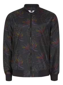 Black Floral Print Bomber Jacket - £10 Delivered @ Topman