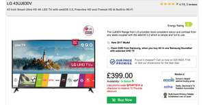 43 Inch Smart Ultra HD 4K LED TV with webOS 3.5, Freeview HD and Freesat HD & Built-In Wi-Fi - £389 with code @ RGB Direct