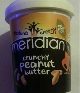Meridian smooth or crunchy peanut butter 454g tubs usually £3 down to £2 at Asda online and in store