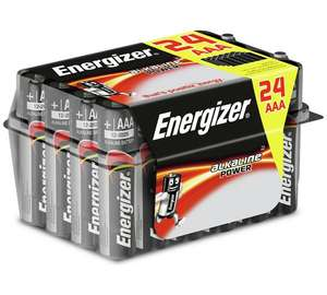 Energizer AAA / AA Alkaline Power Batteries – 24 Pack w/ 15% Off Code @ Robert Dyas - £5.09 (free C&C)