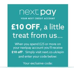 £10 off £25 spend at next