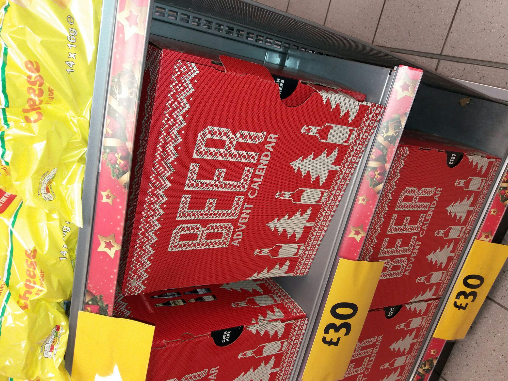 Beer advent calendar £30.00 instore @ Morrisons